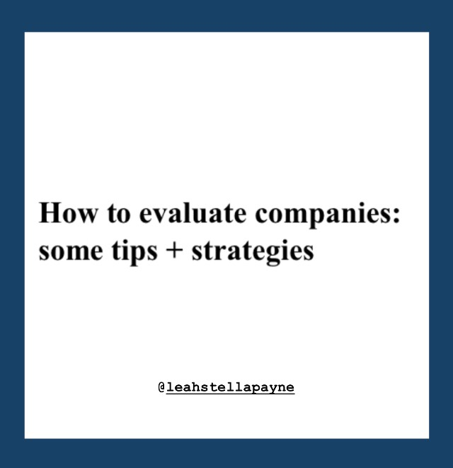 How to Evaluate Companies