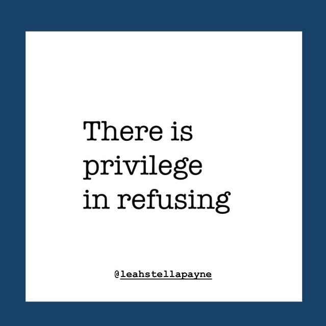 Privilege in refusal
