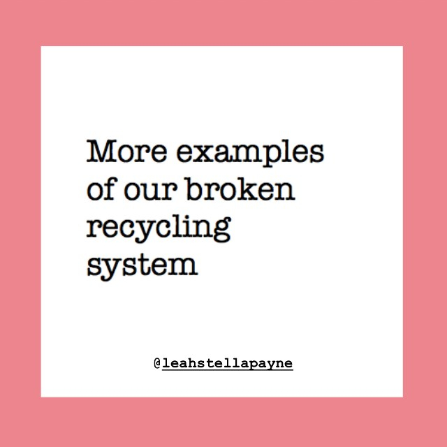Recycling system is broken