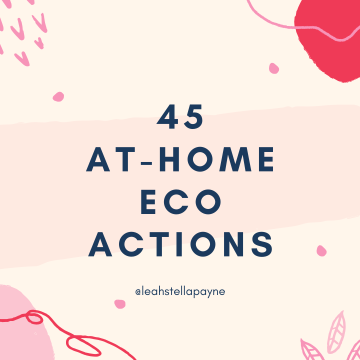 45 at-home eco actions